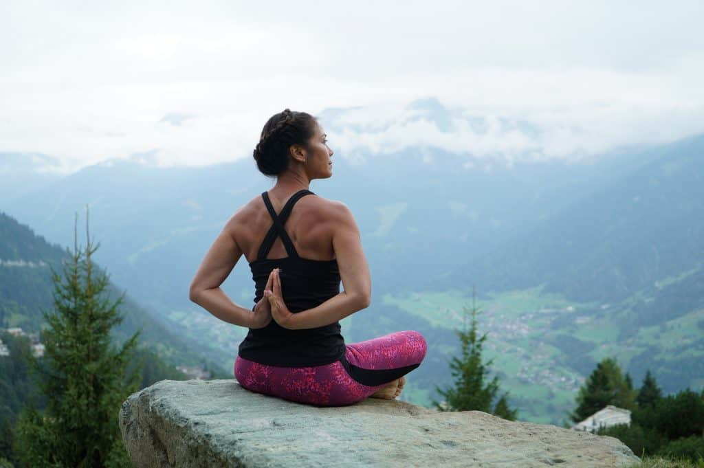Penny Megginson Method Yoga Pose Verbier Mountains